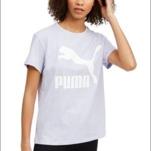PUMA Classics Logo T-shirt In Lilac-purple